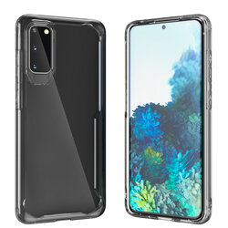 Husa Samsung Galaxy S20 5G Mobster Glaast Series Transparenta - Negru