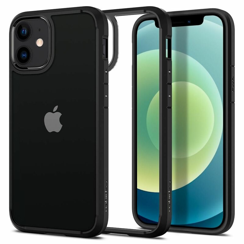 Husa iPhone 12 Spigen Ultra Hybrid - Matte Black