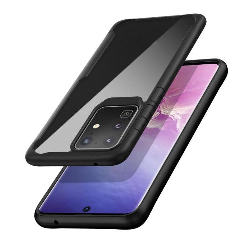 Husa Samsung Galaxy S20 Ultra 5G Mobster Glaast Series Transparenta - Negru