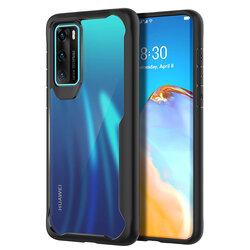 Husa Huawei P40 Mobster Glaast Series Transparenta - Negru