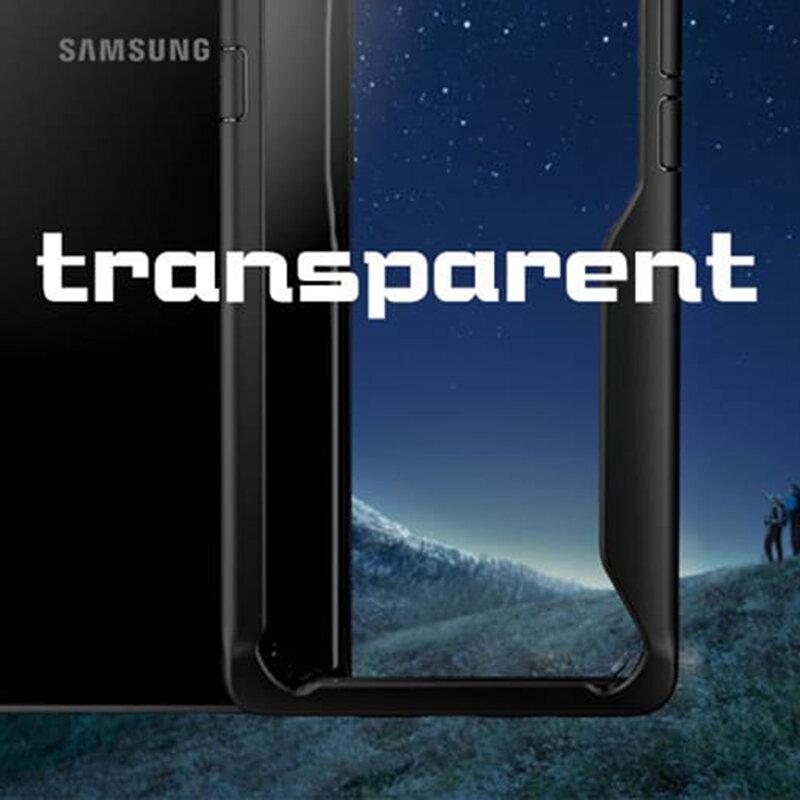 Husa Samsung Galaxy A21 Mobster Glaast Series Transparenta - Negru