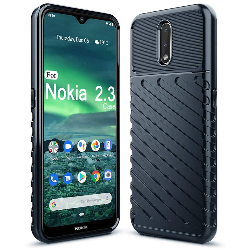 Husa Nokia 2.3 Thunder Flexible Tough TPU - Albastru