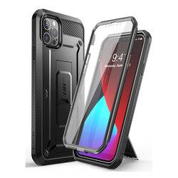 [Pachet 360°] Husa iPhone 12 Pro Supcase Unicorn Beetle Pro + Folie Ecran - Black
