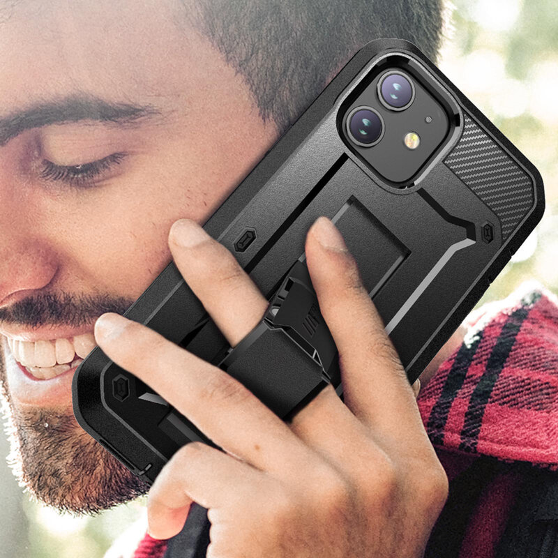 [Pachet 360°] Husa iPhone 12 mini Supcase Unicorn Beetle Pro + Folie Ecran - Black