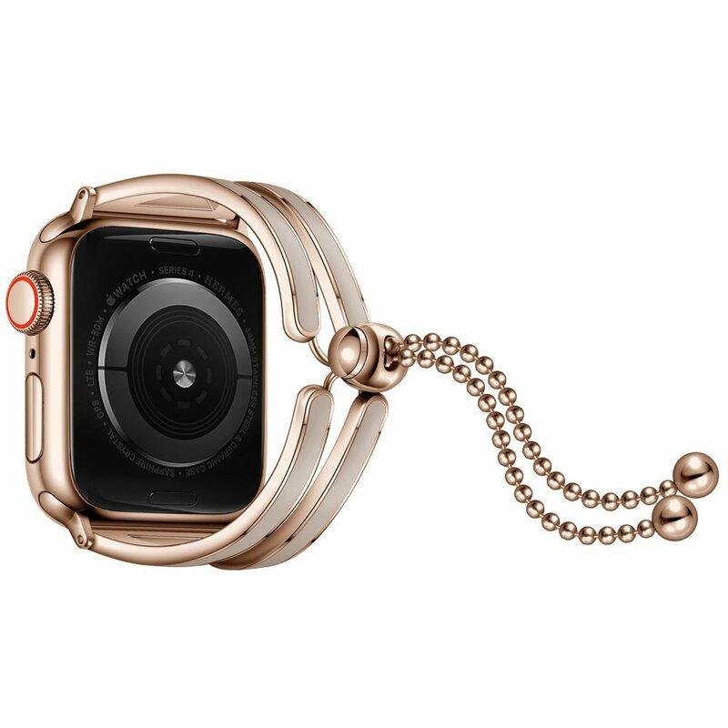 Curea Apple Watch 5 44mm Tech-Protect Chainband - Auriu