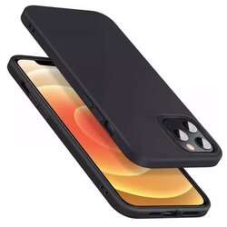 Husa iPhone 12 Pro ESR Cloud Flexibila Din Silicon Si Microfibra - Negru