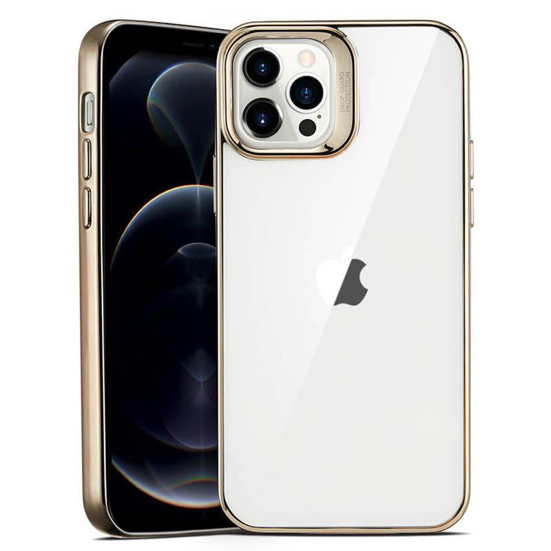 Husa iPhone 12 Pro ESR Halo Transparenta Cu Margini Colorate - Auriu