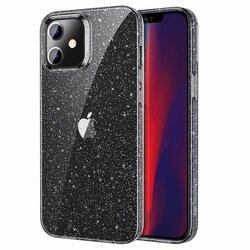 Husa iPhone 12 ESR Shimmer Transparenta Cu Insertii Sclipitoare - Clear