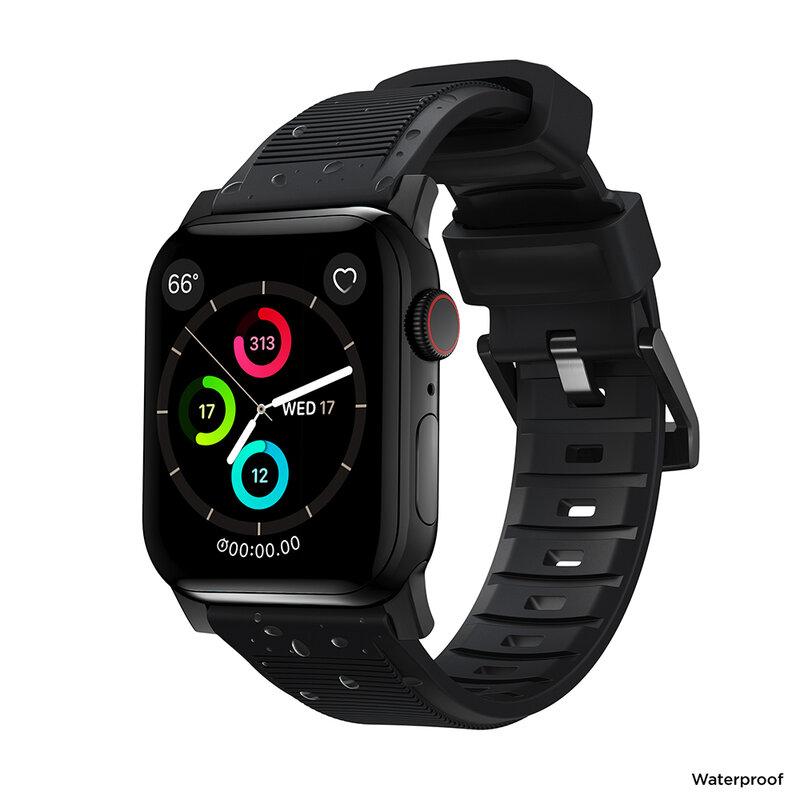 Curea Apple Watch 1 38mm Nomad Rugged Strap Impermeabila - Negru