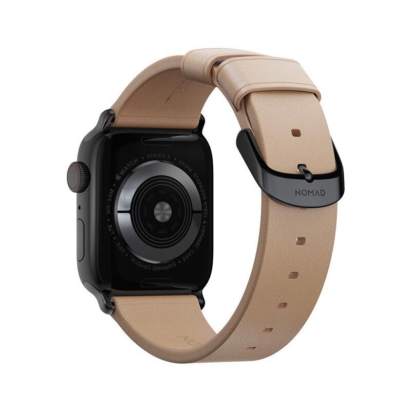 Curea Apple Watch 6 40mm Nomad Modern Strap Din Piele Naturala Horween - Maro Deschis