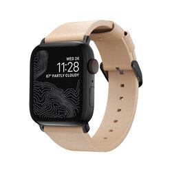 Curea Apple Watch 3 38mm Nomad Modern Strap Din Piele Naturala Horween - Maro Deschis