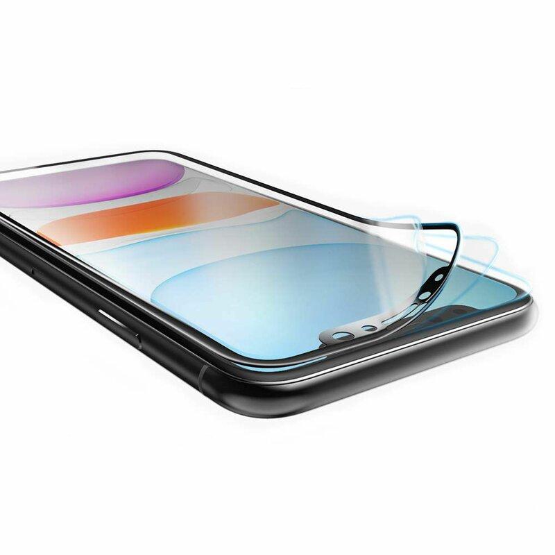 Folie iPhone SE 2, SE 2020 Hofi UltraFlex Glass Din Sticla Hibrida Flexibila 9H - White