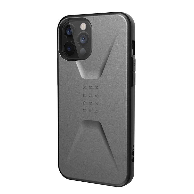 Husa iPhone 12 Pro UAG Civilian Series - Argintiu