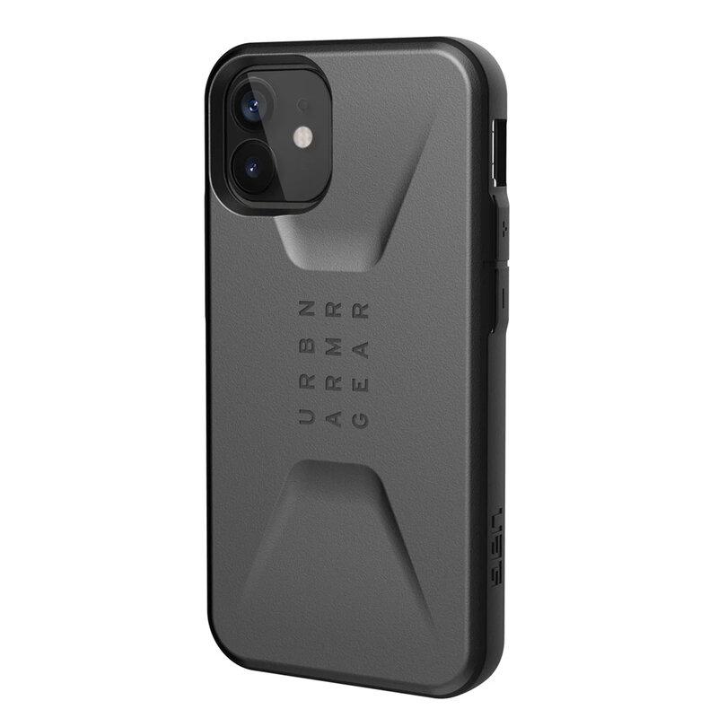Husa iPhone 12 UAG Civilian Series - Argintiu