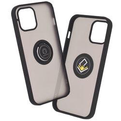 Husa iPhone 12 Pro Max Mobster Glinth Cu Inel Suport Stand Magnetic - Negru
