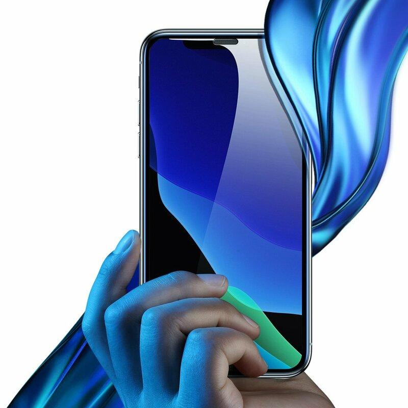 [Pachet 2x] Folie Sticla iPhone XS Baseus Speaker Dust Protector - SGAPIPH58-WD01 - Negru