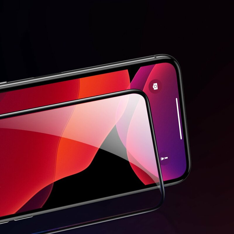 [Pachet 2x] Folie Sticla iPhone 11 Pro Baseus Privacy Speaker Dust Protector - SGAPIPH58S-WC01 - Negru
