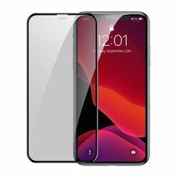 [Pachet 2x] Folie Sticla iPhone 11 Pro Max Baseus Privacy Speaker Dust Protector - SGAPIPH65S-WC01 - Negru