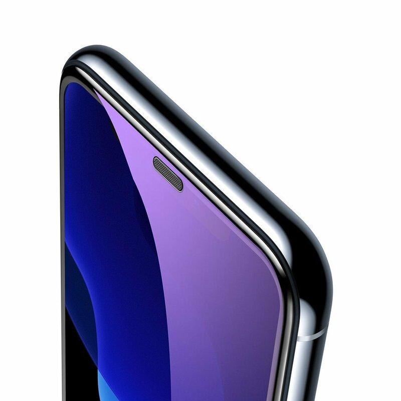[Pachet 2x] Folie Sticla iPhone XS Baseus Anti-Bluelight Speaker Dust Protector - SGAPIPH58-WE01 - Negru