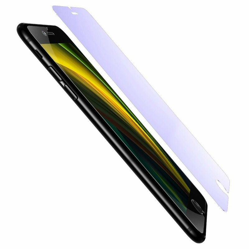 [Pachet 2x] Folie Sticla iPhone 8 Baseus Light Thin Anti-Bluelight - SGAPIPHSE-LB02 - Clear