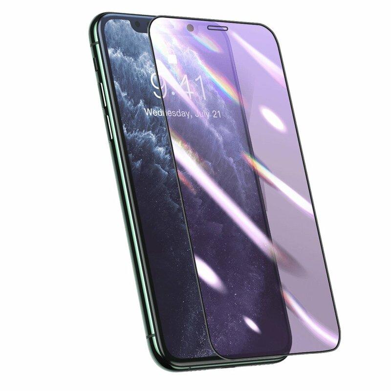Folie Sticla iPhone 11 Pro Baseus Anti-Bluelight Full Cover - SGAPIPH58S-HB01- Negru