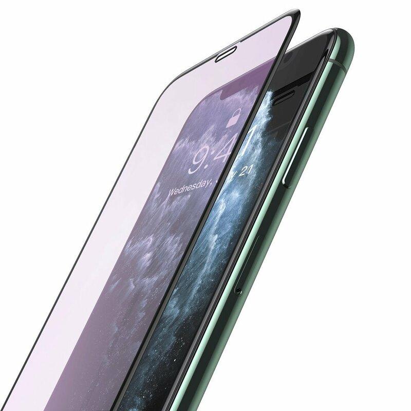 Folie Sticla iPhone 11 Baseus Anti-Bluelight Full Cover - SGAPIPH61S-HB01 - Negru