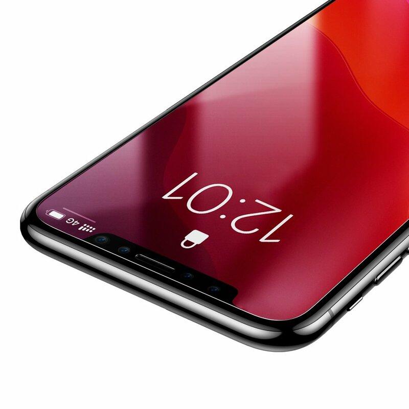 [Pachet 2x] Folie Sticla iPhone XS Baseus Full-Glass Film - SGAPIPH58S-GS02 - Clear