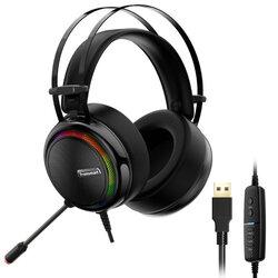 Casti On-Ear RGB Gaming Tronsmart Glary Multiplatforma USB Fir 2.2 m - Negru
