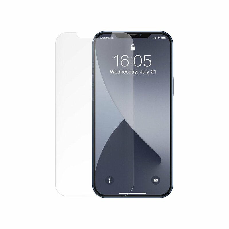 [Pachet 2x] Folie Sticla iPhone 12 Baseus Full-Glass Tempered Film - SGAPIPH61P-FM02 - Clear