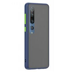Husa Xiaomi Mi 10 Pro Mobster Chroma Cu Butoane Si Margini Colorate - Albastru