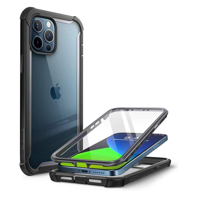 [Pachet 360°] Husa iPhone 12 Pro Max i-Blason Ares + Folie Ecran - Black