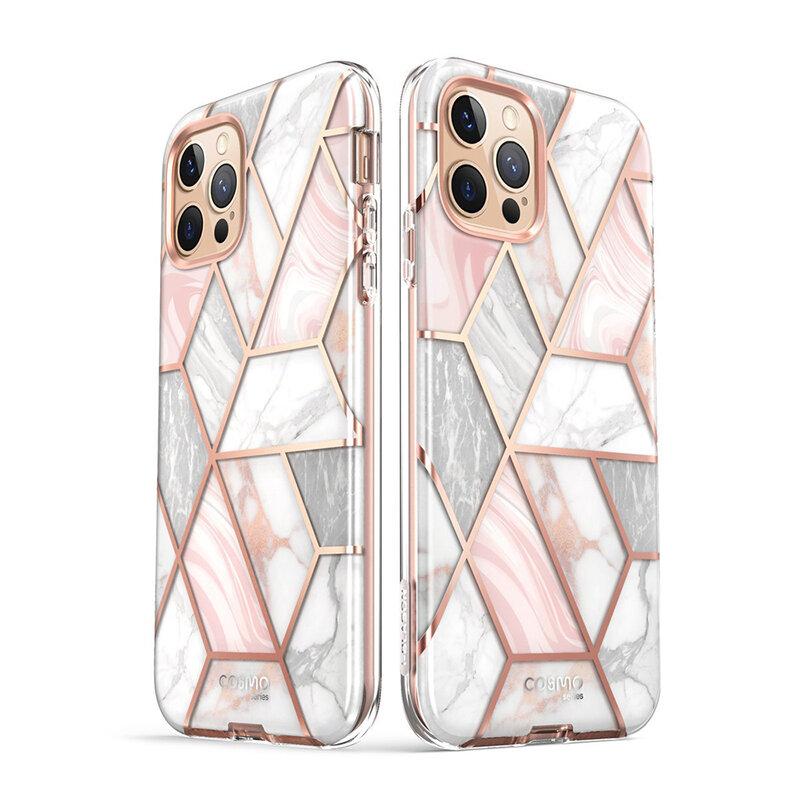 [Pachet 360°] Husa iPhone 12 Pro I-Blason Cosmo + Folie Ecran - Marble