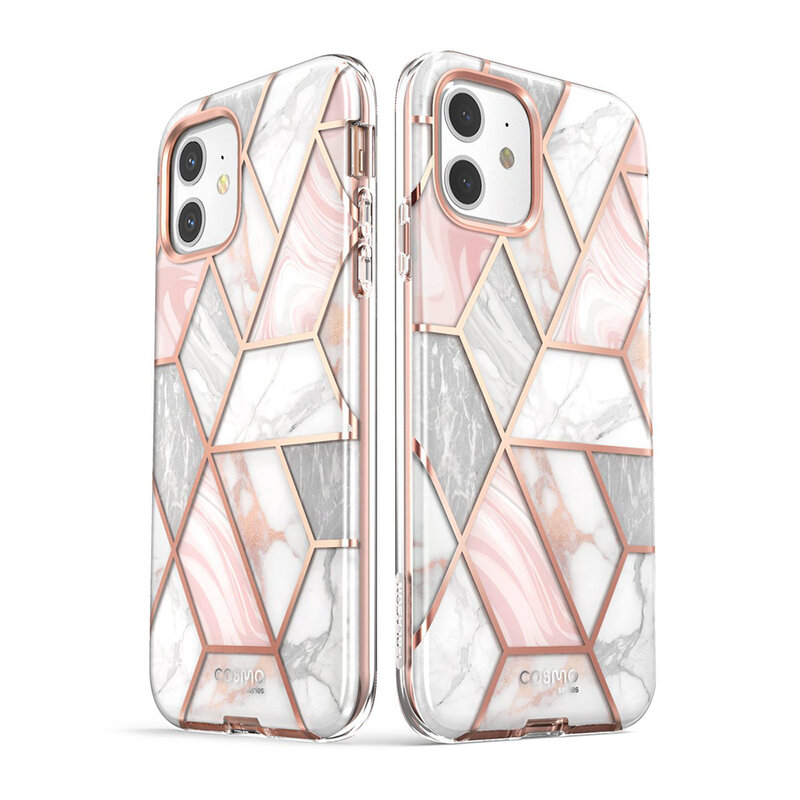 [Pachet 360°] Husa iPhone 12 I-Blason Cosmo + Folie Ecran - Marble
