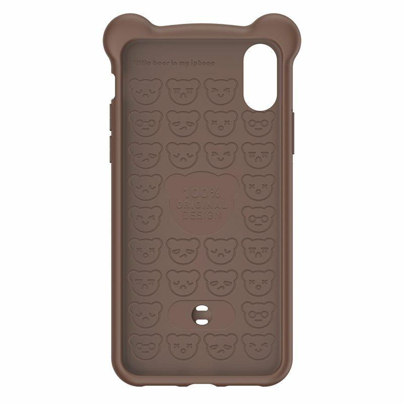 Husa iPhone XS Baseus Bear Curea Pentru Incheietura - WIAPIPH58-BE08 - Maro