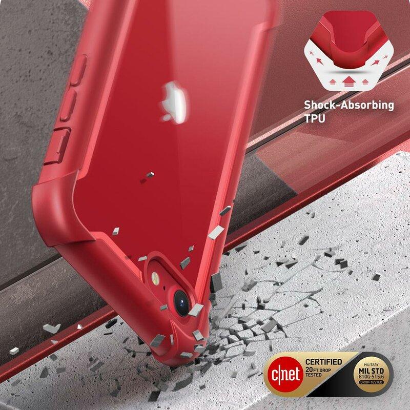 [Pachet 360°] Husa iPhone 8 i-Blason Ares + Folie Ecran - Metallic Red