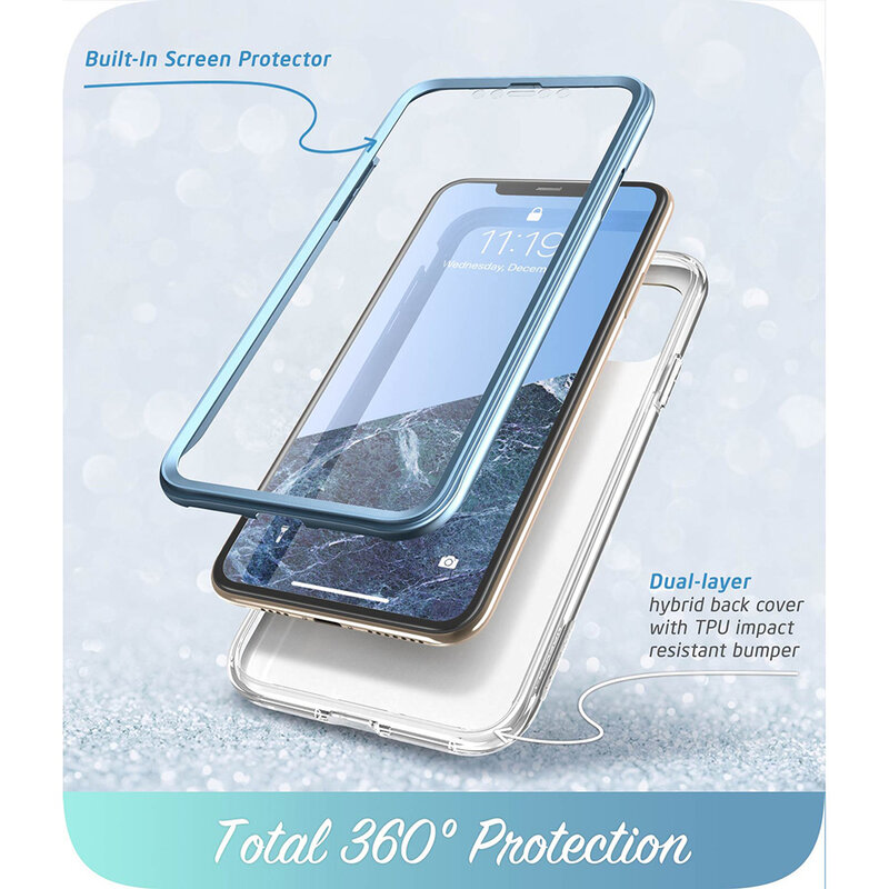[Pachet 360°] Husa iPhone 11 Pro Max I-Blason Cosmo + Folie Ecran - Blue