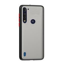 Husa Motorola Moto G8 Power Lite Mobster Chroma Cu Butoane Si Margini Colorate - Negru