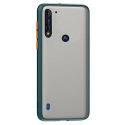 Husa Motorola Moto G8 Power Lite Mobster Chroma Cu Butoane Si Margini Colorate - Verde Inchis