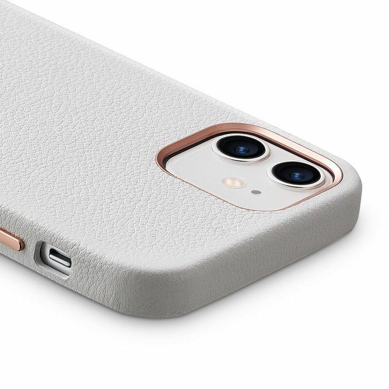 Husa iPhone 12 ESR Metro Leather - Alb