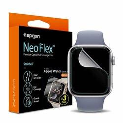 [Pachet 3x] Folie Apple Watch SE 44mm Spigen Neo Flex - Clear