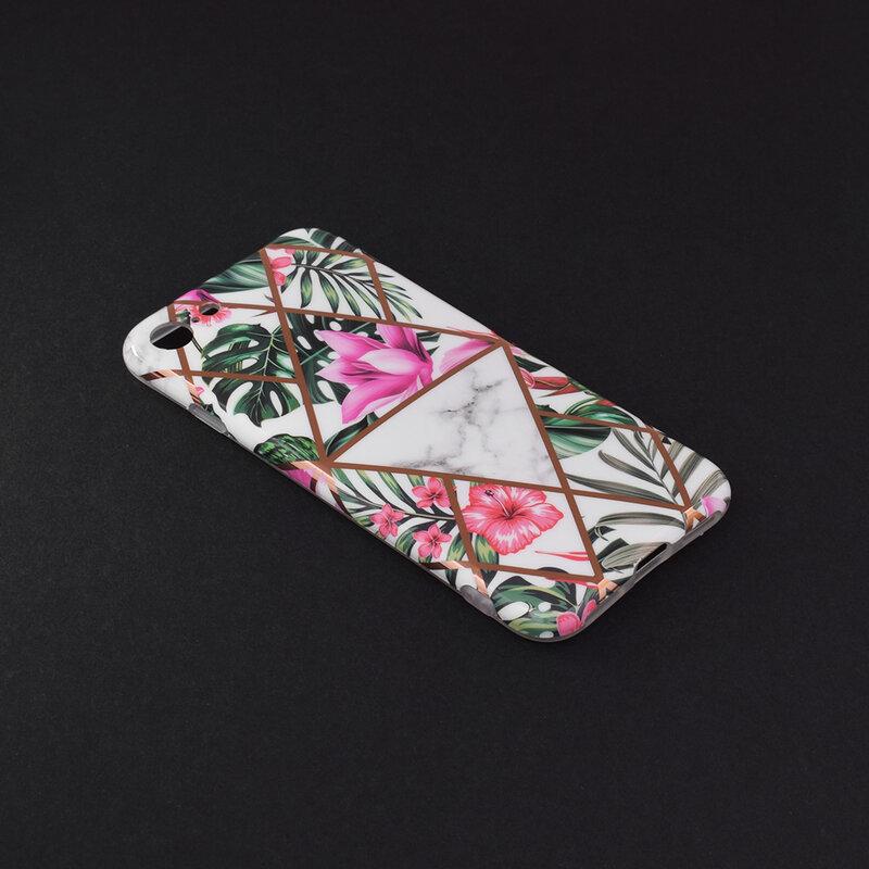 Husa iPhone 7 Mobster Laser Marble Shockproof TPU - Model 3