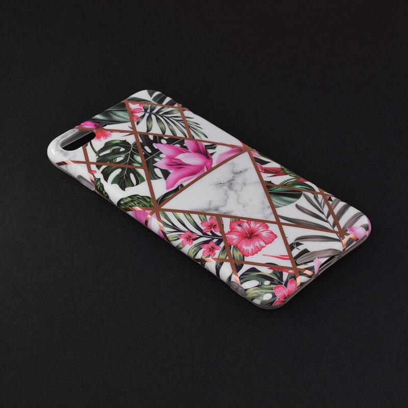 Husa iPhone 8 Plus Mobster Laser Marble Shockproof TPU - Model 3