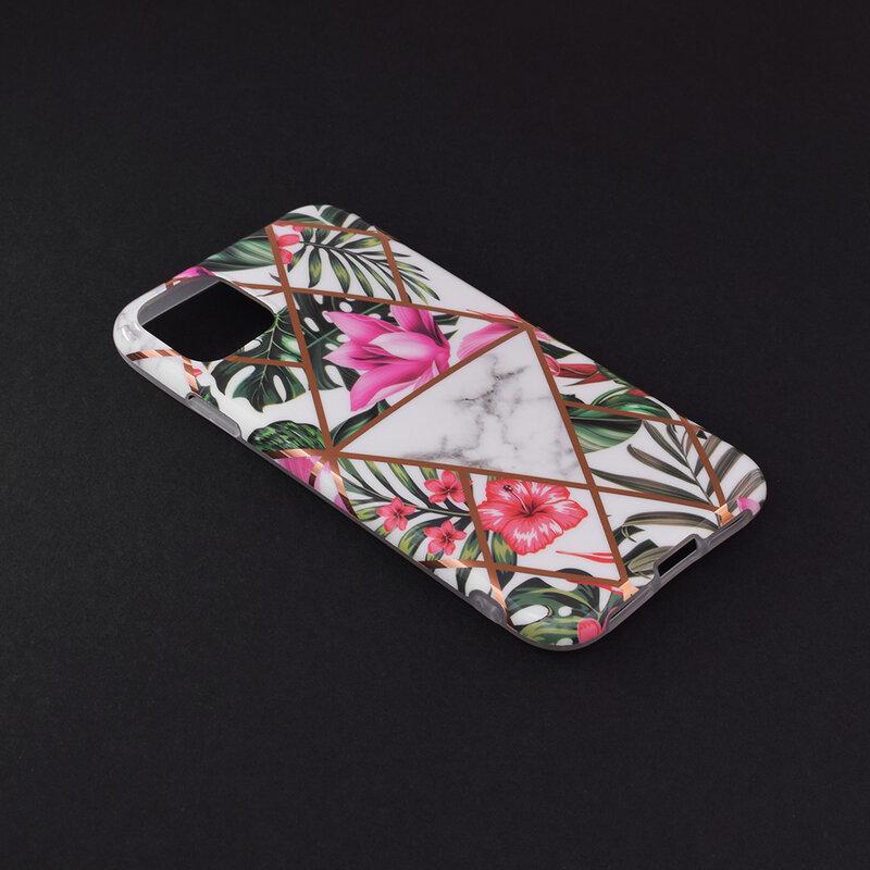 Husa iPhone 11 Mobster Laser Marble Shockproof TPU - Model 3
