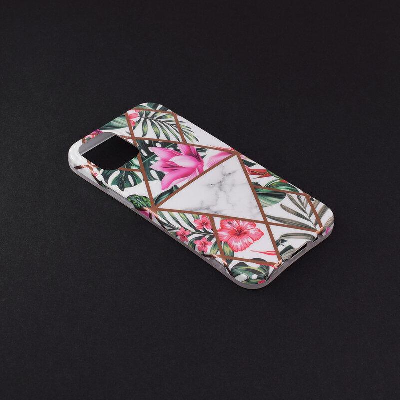 Husa iPhone 12 mini Mobster Laser Marble Shockproof TPU - Model 3