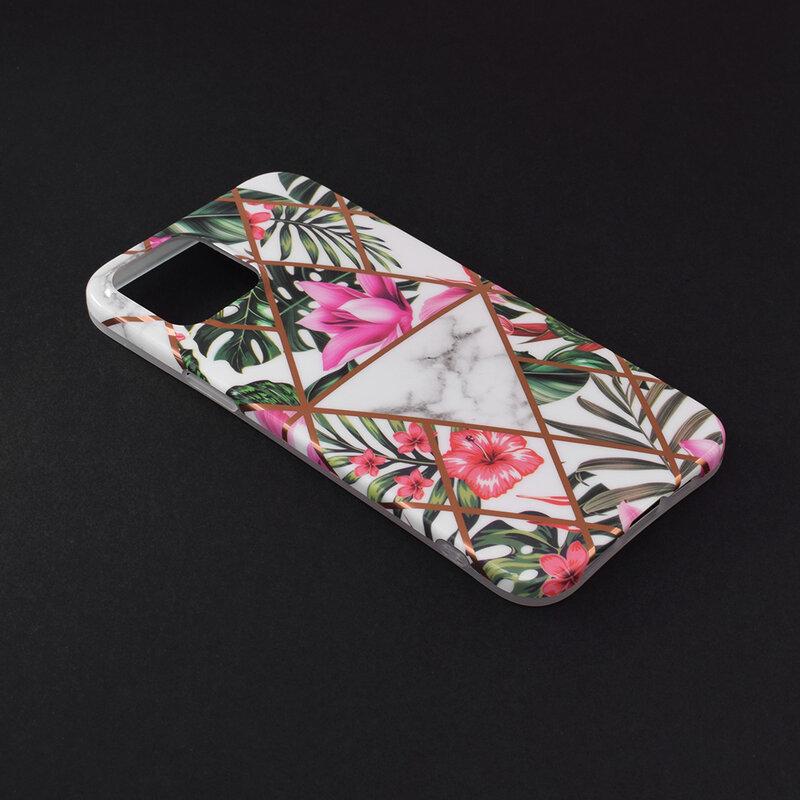 Husa iPhone 12 Pro Max Mobster Laser Marble Shockproof TPU - Model 3