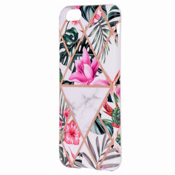 Husa iPhone 6 / 6S Mobster Laser Marble Shockproof TPU - Model 3