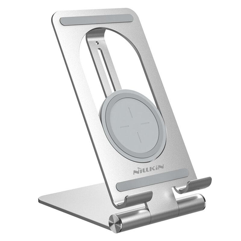 Suport Birou Nillkin Pentru Tableta Cu Incarcare Wireless 15W - Argintiu