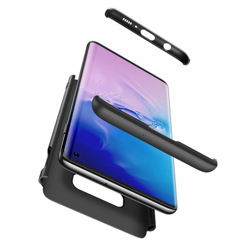 [Pachet 360°] Husa + Folie Samsung Galaxy S10e GKK Original - Negru