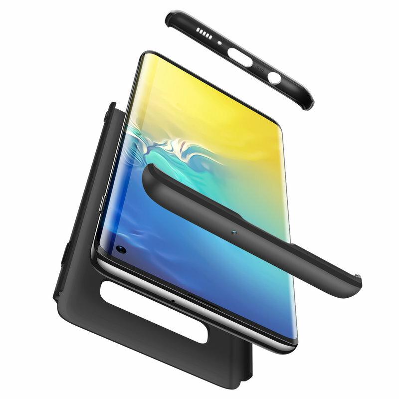 [Pachet 360°] Husa + Folie Samsung Galaxy S10 GKK Original - Negru