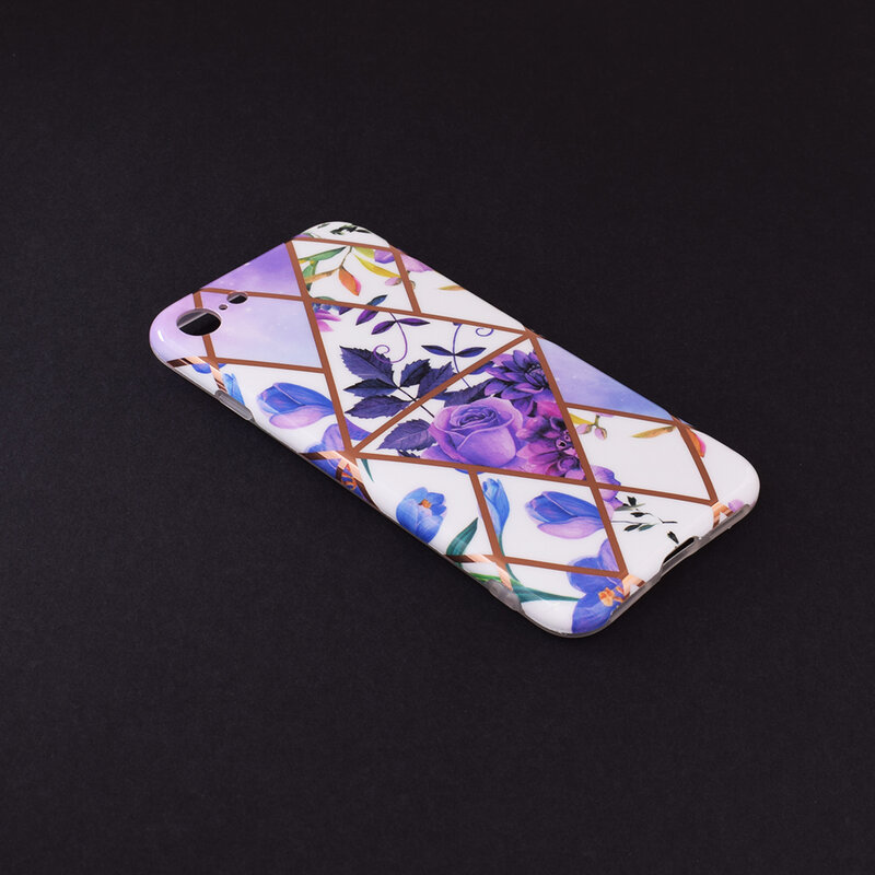 Husa iPhone 8 Mobster Laser Marble Shockproof TPU - Model 2